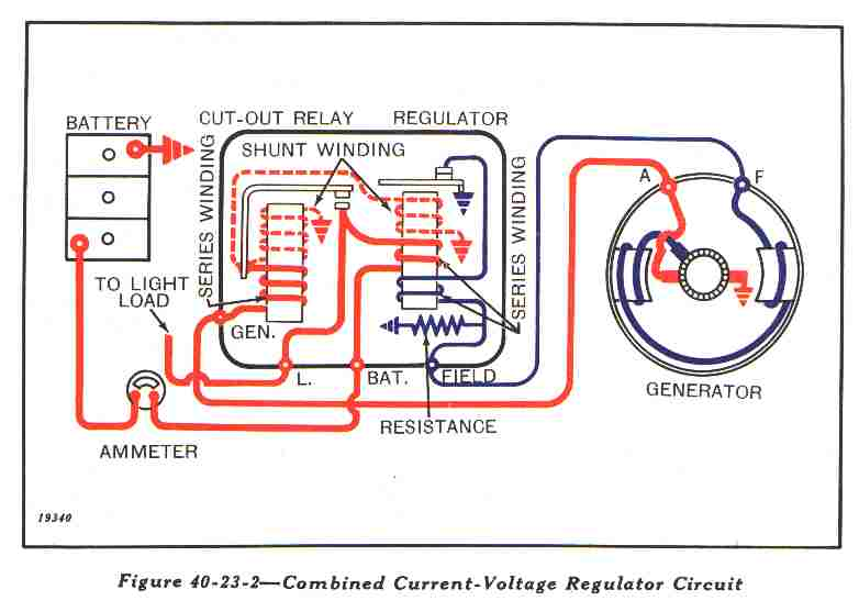electrical info voltage regulator cut out relay diagram from john deere manual